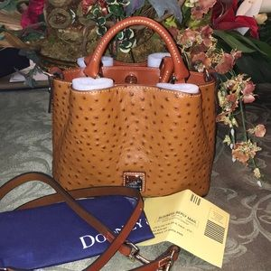Dooney & Bourke Ostrich Mini Barlow Crossbody NWT